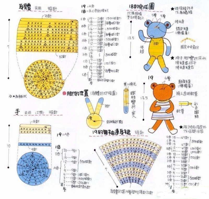 用毛线编织青蛙玩偶的教程图解