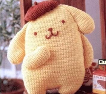 用毛线编织布丁狗玩偶的详细图解