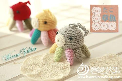 钩针编织可爱的章鱼玩偶图片