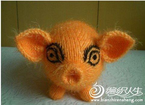 可爱的发财猪的编织步骤教程