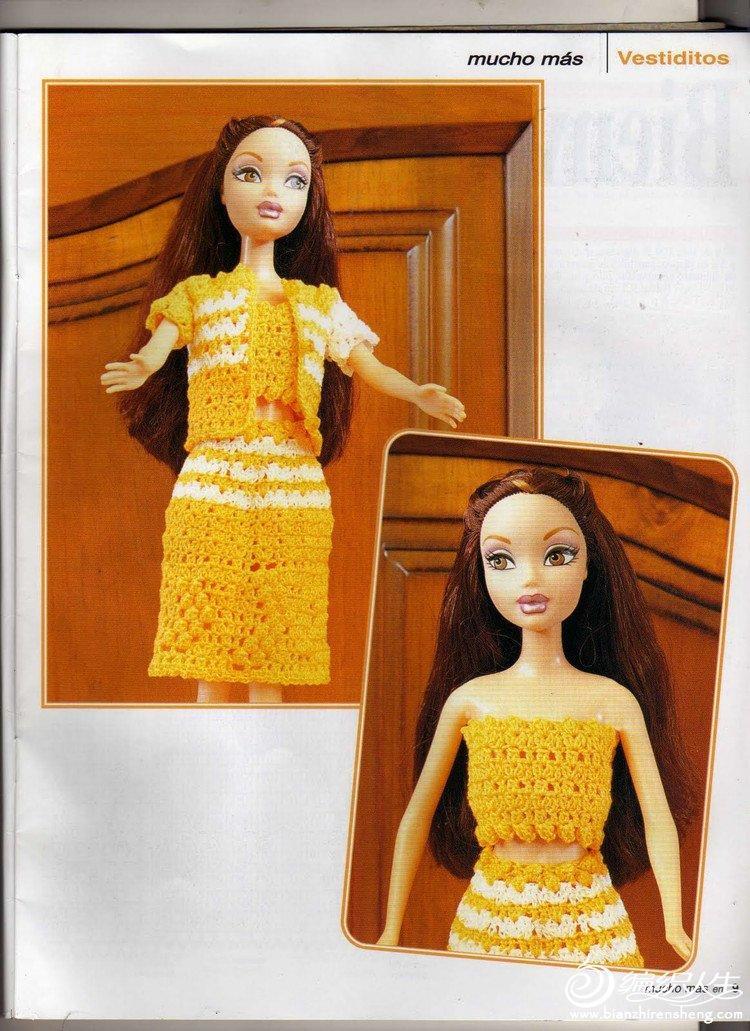 精致的芭比娃娃钩衣欣赏