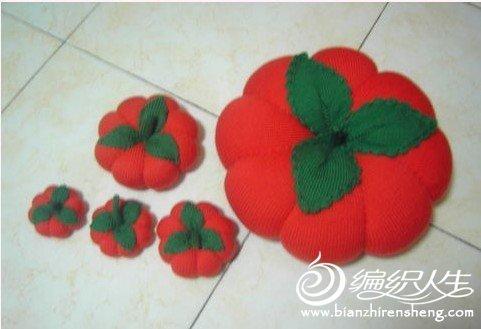 毛线玩具南瓜的编织方法过程