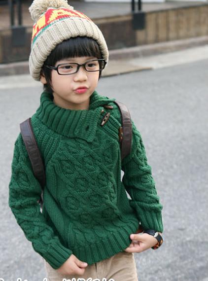 可爱的男孩毛衣--韩版-编织人生