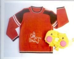 运动元素的男孩毛衣(1)