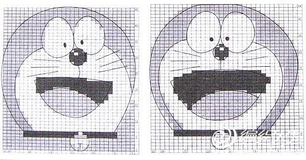 儿童叮当猫毛衣花案图解