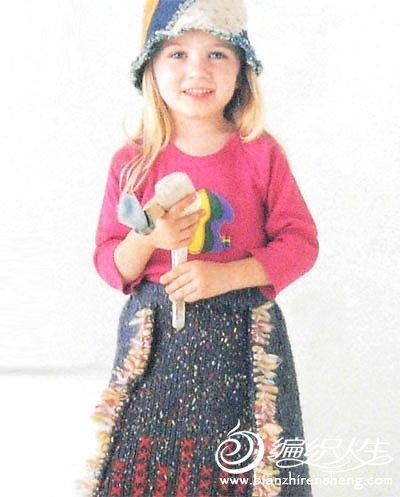 两种手工儿童毛衣编织花样图解