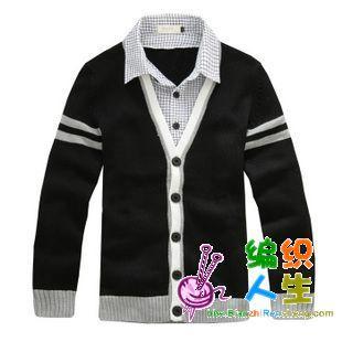 绅士毛衣---男士对襟衫