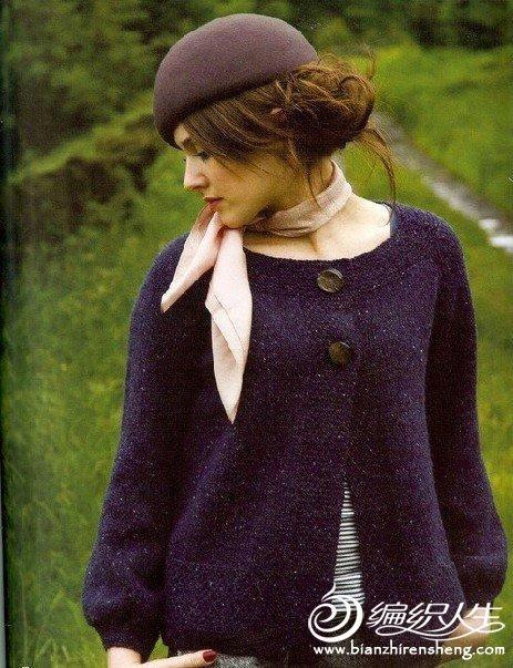 一款时尚女式毛衣编织教程