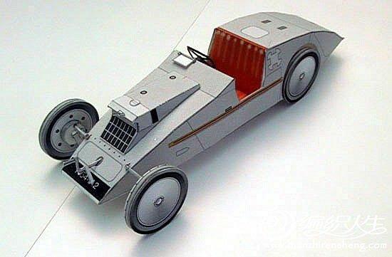 折纸大全之纸制的玩具汽车图片