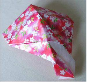 折纸大全之情人节礼品盒折纸方法图解图片