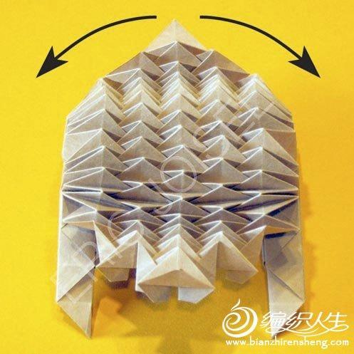 复杂折纸大全之小刺猬折法图解 -复杂折纸大全之小刺猬 编织人生移图片