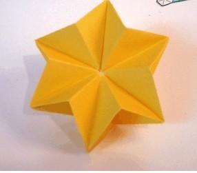 折纸模块六角星星的教程图解