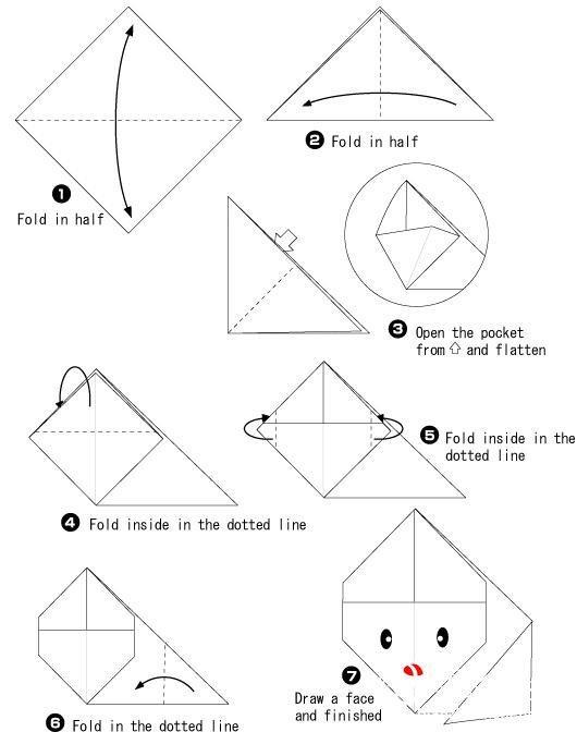 教你最简单的纸兔子折法-编织人生