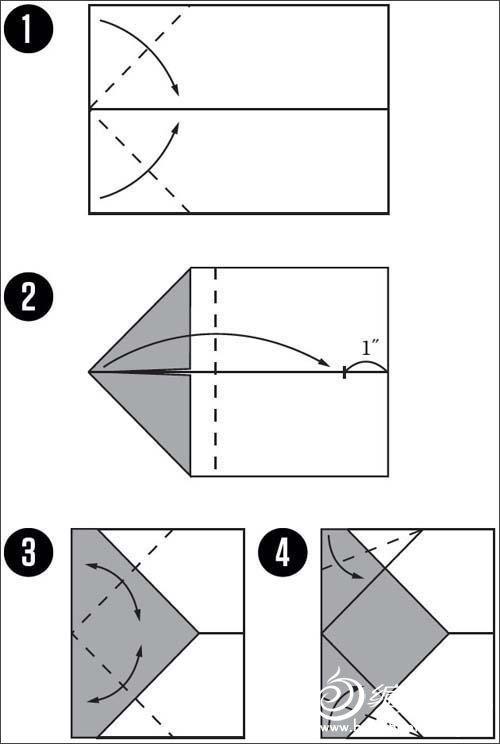 折纸飞机 能在天空飞翔的折纸1