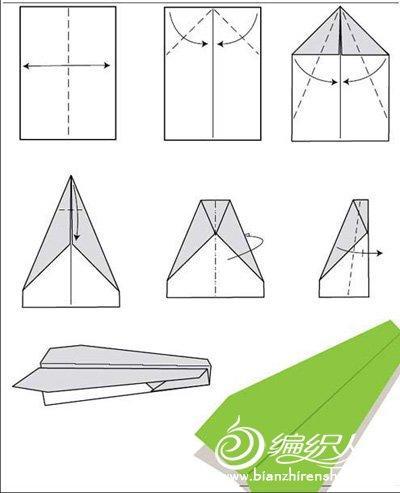 多种纸飞机折纸方法图.-编织人生移动门户