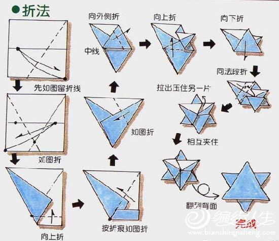 手工折纸教程  餐巾纸星星