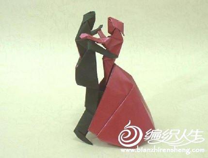 手工折纸制作 跳舞小人图解