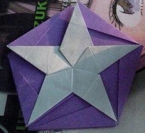 制作DIY星星纸盒的折纸方法图解