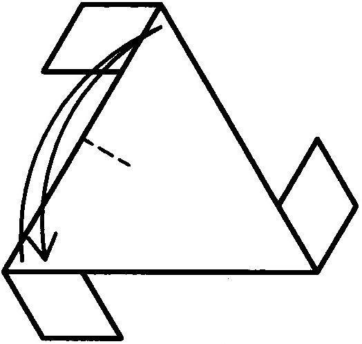 复杂折纸大全 三角形构造的四面体折法图解 -复杂折纸大全 三角形 图片