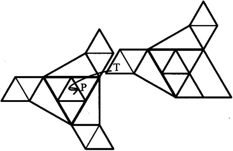 三角形构造的四面体折法图解