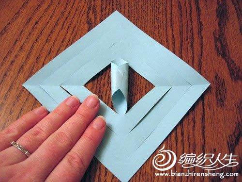 折纸大全 立体雪花折纸方法图解