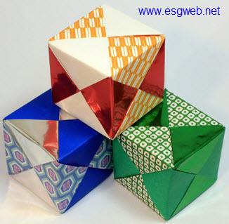 折纸大全之简单立方体折法图解