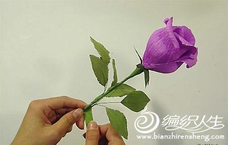 diy手工制作之玫瑰花束折纸方法图解