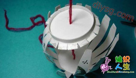废物利用--纸杯制作新年灯笼