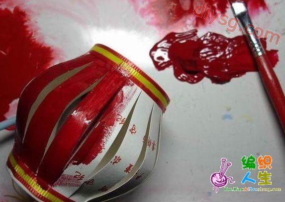 废物利用 纸杯制作新年灯笼图片