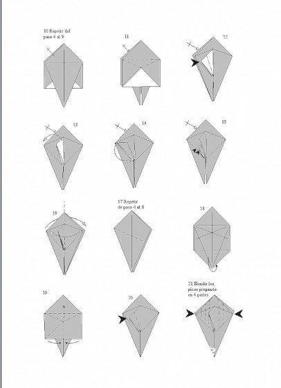 蝗虫的折纸方法图解