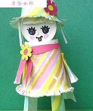 diy制作创意纸杯娃娃图片