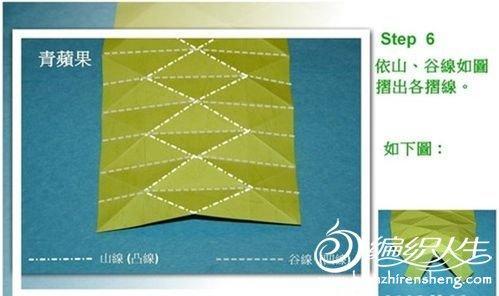 关于立体苹果的折纸方法图解