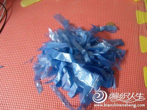 创意diy塑料袋制作花式毽子图解