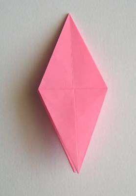 百合花的折纸方法和图解