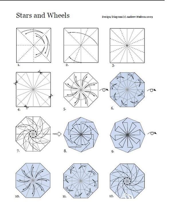 怎样制作螺旋花折纸的详细图解