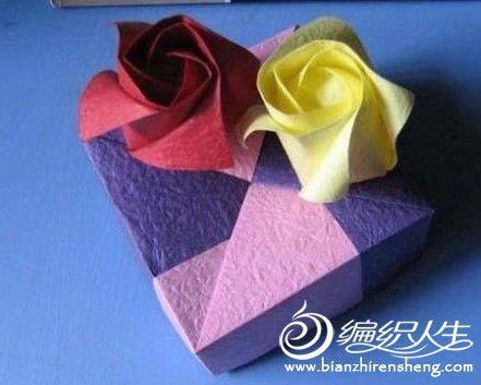 手工折纸 玫瑰花的制作方法