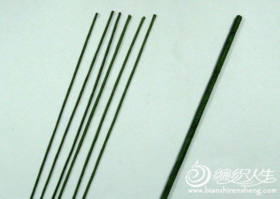 怎么样制作丝网花竹子的详细图解