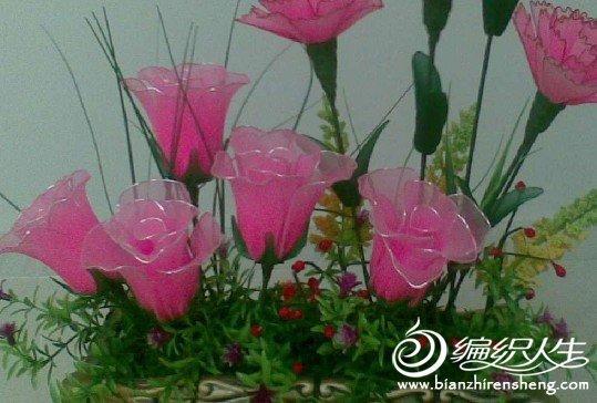 丝网花玫瑰花的制作_手工丝网花制作玫瑰花的教程图解-编织人生