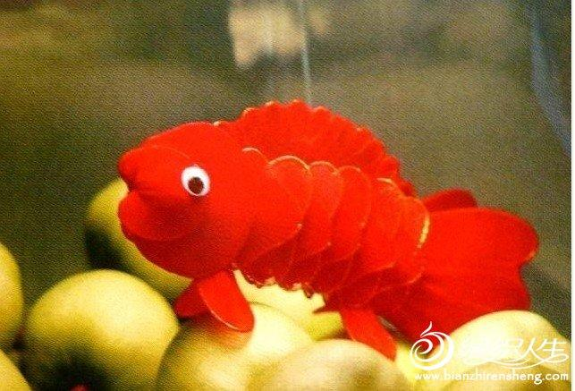 丝网花动物金鱼的手工制作过程