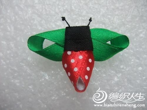 丝带绣教程之小瓢虫制作方法图解