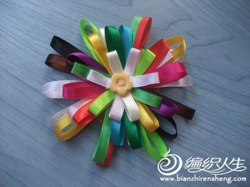 巧手丝带绣之丝带花制作方法图解