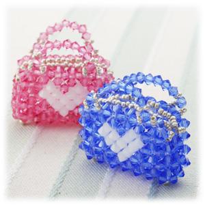手工串珠作品串珠包包的制作图解