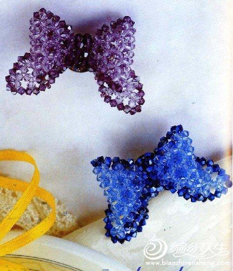 串珠作品 美丽的蝴蝶胸针的制作图解