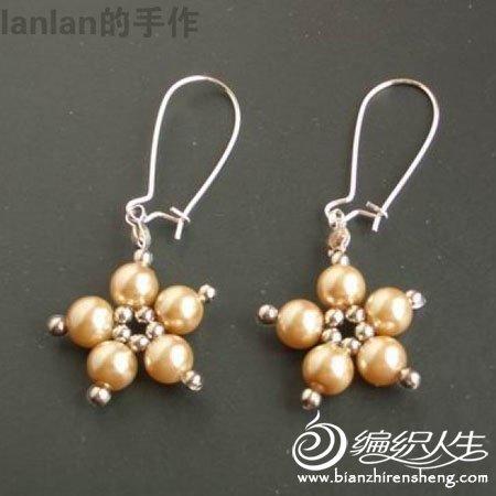 手工串珠制作  时尚的耳环