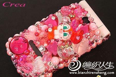 手工串珠编织  可爱的手机衣服