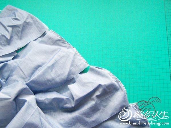 多节大摆裙的裁剪缝制过程