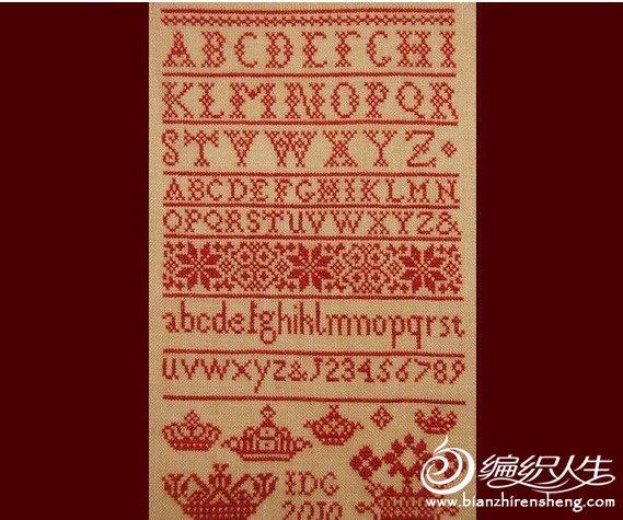 来自美洲和丹麦古董风的十字绣图案