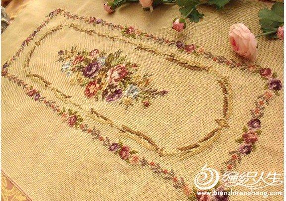 华丽唯美玫瑰十字绣作品