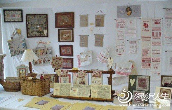 单色十字绣在家装中的广泛利用