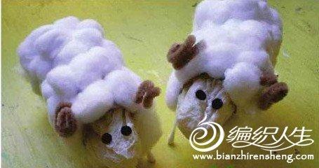 手工diy 教你用卷纸筒diy可爱的小绵羊